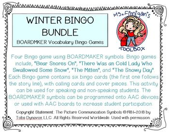 Winter Bundle - Four BORDMAKER Bingo Games