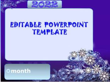 New Years 2017 - Winter Activities - EDITABLE POWERPOINT TEMPLATE