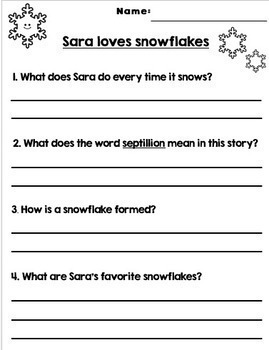 WINTER - CHRISTMAS Reading Comprehension Passages