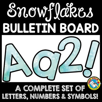 Winter Theme Printable Letters For Bulletin Boards Teaching
