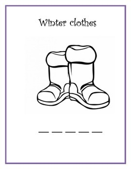 WINTER CLOTHING COLOR PAGES....BRRRR