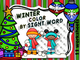 WINTER  - COLOR BY SIGHT WORD