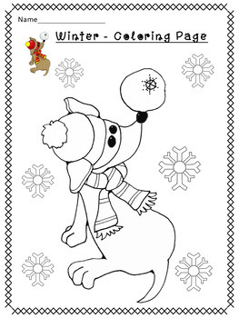 FUN WINTER COLORING PAGES by Christian Learning Center | TpT