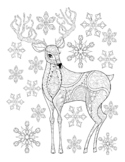 WINTER COLORING, BUNDLE 20 PAGES, WINTER ACTIVITIES