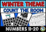 WINTER COUNT THE ROOM TEEN NUMBERS 11-20 FEBRUARY ACTIVITY KINDERGARTEN MATH