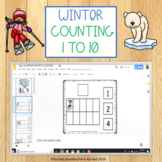 WINTER COUNTING 1 TO 10 GOOGLE SLIDES