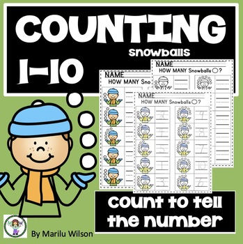 WINTER COUNTING ACTIVITY - How many snowballs?