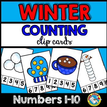 PRESCHOOL WINTER COUNTING CENTERS 1-10 (WINTER KINDERGARTEN COUNTING ACTIVITIES