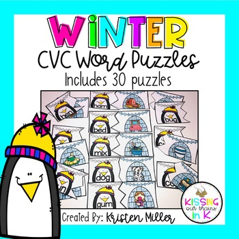 WINTER CVC Word Puzzles