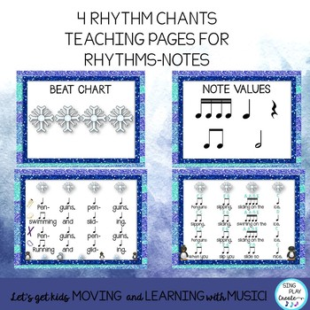 Winter Chants and Songs with Rhythms-Body Percussion-Instruments & Notes