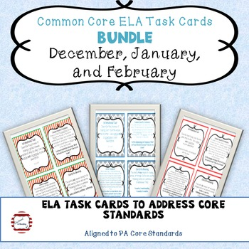 January bell ringer teaching resources teachers pay teachers winter ela middle school bell ringer task card bundle dec jan feb fandeluxe Images