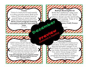 WINTER ELA Middle School Bell Ringer Task Card BUNDLE (Dec. Jan. Feb.)