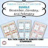 WINTER ELA Middle School Bell Ringer Task Card BUNDLE (Dec