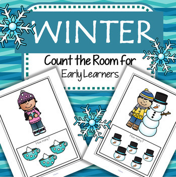 WINTER Count the Room with 4 Differentiated Recording Pages