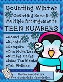 WINTER Counting Teen Numbers in Multiple Arrangements + Activities With Teens
