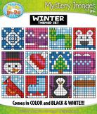 WINTER Mystery Images Clipart {Zip-A-Dee-Doo-Dah Designs}