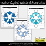 WINTER DIGITAL NOTEBOOK TEMPLATES SNOWFLAKES