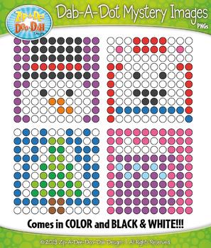 WINTER Dab-A-Dot Mystery Images Clipart {Zip-A-Dee-Doo-Dah Designs}
