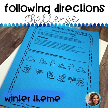 WINTER SPEECH AND LANGUAGE ACTIVITIES| FOLLOWING COMPLEX DIRECTIONS