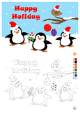 WINTER FREEBIES - Color by Number