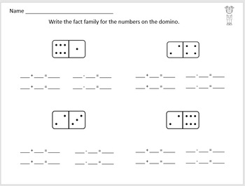 Winter Fact Family Worksheets and Task Cards