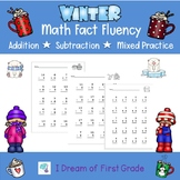 WINTER Fact Fluency Worksheets