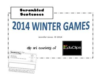 WINTER GAMES 2014 Scrambled Sentences