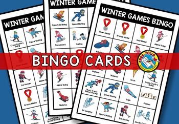 PYEONGCHANG WINTER OLYMPICS 2018 ACTIVITIES KINDERGARTEN, FIRST GRADE BINGO