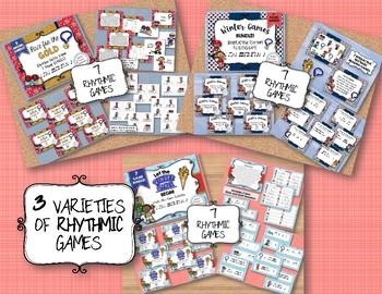 WINTER GAMES - SUPER BUNDLE - 37 Rhythmic & Melodic Games + 1 Orff Arr.