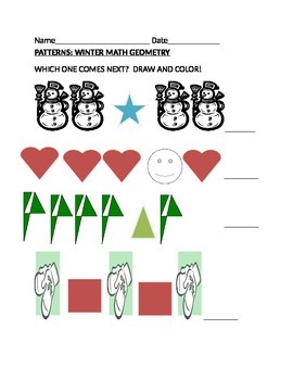 WINTER GEOMETRY PATTERNS K & 1