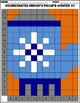 WINTER GLOVE Coordinates Grid Mystery Picture