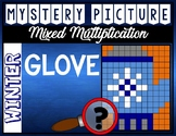 WINTER GLOVE Mixed Multiplication Color by Number Mystery Picture