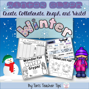 WINTER Glyph~ Graphing~Writing~and More! {Grades 2-4}