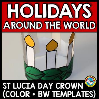 WINTER HOLIDAYS AROUND THE WORLD CRAFTS KINDERGARTEN (ST LUCIA DAY CROWN)