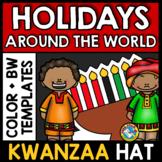 WINTER HOLIDAYS AROUND THE WORLD KINDERGARTEN ACTIVITY (KWANZAA CRAFTS HAT)