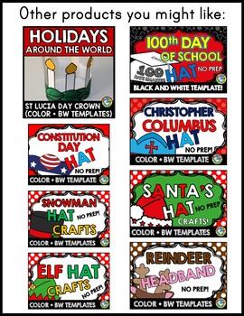 WINTER HOLIDAYS AROUND THE WORLD KINDERGARTEN ACTIVITY (ST LUCIA DAY CROWN CRAFT
