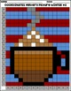 WINTER HOT CHOCOLATE Coordinates Grid Mystery Picture