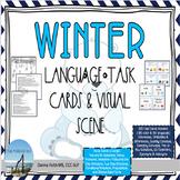 WINTER Language Task Cards & Visual Scene