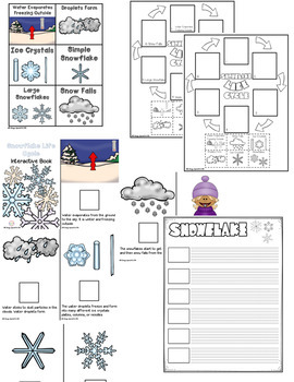 WINTER Life Cycle BUNDLE - Snowflake, Penguin and Owl interactive book