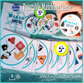 "WINTER MATCHING GAME Shout Out; Spot the match; vocabulary, 3"" & 5""+ box"