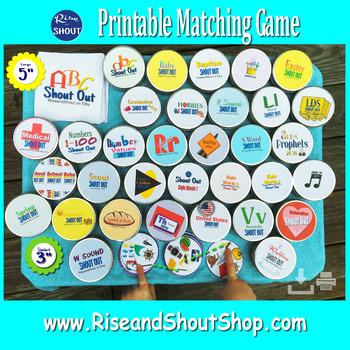 "WINTER MATCHING GAME Shout Out; Spot the match; vocabulary, 3"" & 5""+ box"