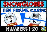 WINTER MATH ACTIVITIES KINDERGARTEN (SNOWGLOBES TEN FRAMES MATCH UP CARDS)