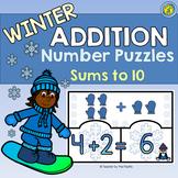 WINTER Math Center ~ ADDITION Puzzles