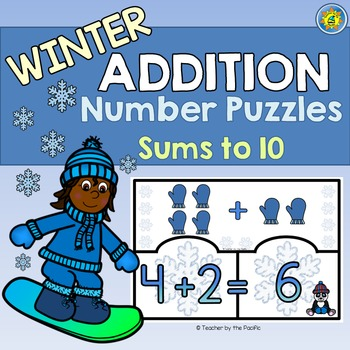 WINTER Math Center ~ ADDITION Puzzles