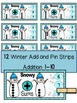 WINTER ADDITION MATH CENTER ACTIVITY- Add and Pin (1-10 and 10's &1's)