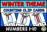 WINTER MATH CENTER KINDERGARTEN (SNOWMAN COUNTING ACTIVITIES TODDLERS)