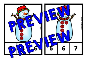 WINTER MATH CENTER KINDERGARTEN (SNOWMAN COUNTING ACTIVITIES TODDLERS)
