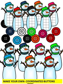 SNOWMEN TEN FRAMES-WINTER MATH CLIPART- COMMERICAL USE by ...