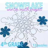 WINTER MATH PROJECT - SNOWFLAKE - FOURTH GRADE