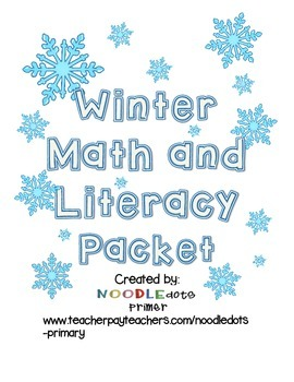 ~NO PREP OR STRESS *WINTER* MATH/LITERACY PACKET